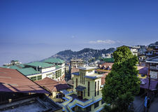 Support Kanchenjunga et Darjeeling Photos stock