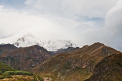 Support Kazbek Photographie stock