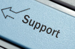 Support keyboard button Royalty Free Stock Photos
