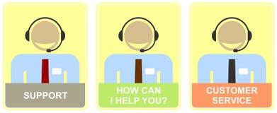 Unterstützung, Kundendienst, Call-Center. lizenzfreie abbildung