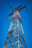 750 kV power line support. Support of 750 kV power transmission line throughout the entire height royalty free stock photography