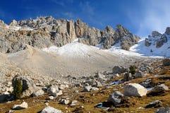 Support Latemar dans les Alpes, Italie photographie stock