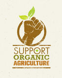 Support Local Farmers. Creative Organic Eco Vector Illustration on Recycled Paper Background Royalty Free Stock Images