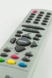 Support lointain de contrôle d'accès de contrôle de TV d'isolement sur le fond blanc Photo stock