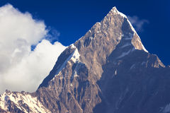 Support Machhapuchhre, Népal image stock