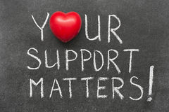 Support matters Royalty Free Stock Photos
