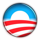 Support Obama. Supporting Obama icon over white background Royalty Free Stock Image
