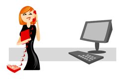 Support online. Smiling operator of online support service. good use for online services Royalty Free Stock Image