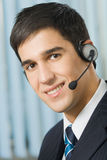 Support operator in headset Stock Image