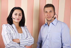 Support operators royalty free stock photo