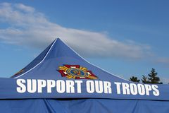 Support our troops Royalty Free Stock Photo