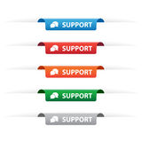 Support paper tag labels Stock Photography