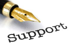 Support and pen concept Stock Photo