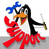 Support, Penguin, Tool, Comic Royalty Free Stock Image