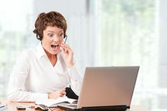 Support phone operator Stock Photos