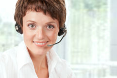 Support phone operator Stock Photography