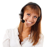 Support phone operator Stock Images