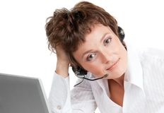 Support phone operator Royalty Free Stock Photo