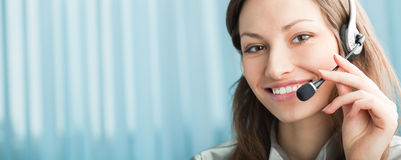 Free Support Phone Operator In Headset Stock Photos - 8465923