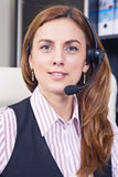 Support phone operator Stock Photo