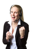 Support phone operator success Stock Images