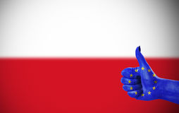 Support for Poland Stock Photos