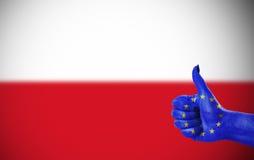Support for Poland Stock Photos