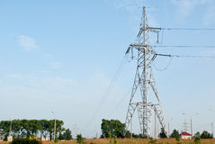 Support of power line Royalty Free Stock Photo