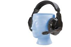 Support principal d'écouteurs de porcelaine d'isolement Images libres de droits