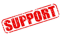 Support red stamp text Stock Images