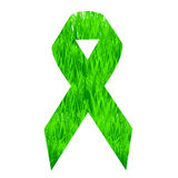 Support ribbon with grass Royalty Free Stock Photography