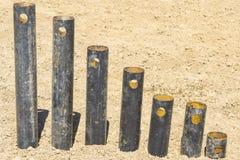 Support rouillé de tuyaux Photo libre de droits