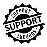 Support rubber stamp Stock Image