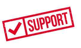 Support rubber stamp Stock Images