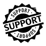 Support rubber stamp Royalty Free Stock Photography