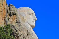 Support Rushmore du profil de George Washington Image libre de droits