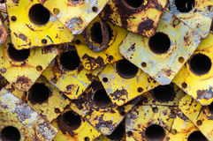 Support rusted pipes rusted Royalty Free Stock Image