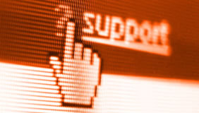 Support screen shot stock photo