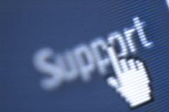 Support screen shot Stock Photos