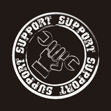 Support seal Royalty Free Stock Image
