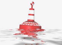 Support service. Businee illustration Support service, a buoy in the water Stock Images