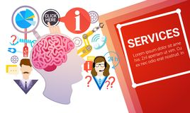 Support Service Concept Technical Help Team Online Chat Royalty Free Stock Images