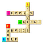Support service crossword puzzle Royalty Free Stock Photo
