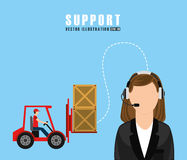 Support service design Royalty Free Stock Images