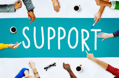Support Service Help Assistance Guidance Concept. People Discuss Support Service Assistance Guidance royalty free stock image