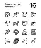 Support, service, help simple line icons for web and mobile design pack 1 Royalty Free Stock Photo