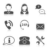 Support service icons set Stock Images