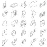 Support service icons set, isometric 3d style Stock Photo