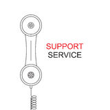 Support service. Image handset. Royalty Free Stock Photography
