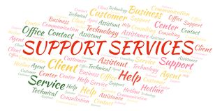 Support Services word cloud royalty free illustration
